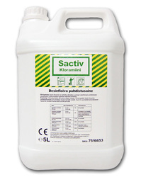 Sactiv Kloramiini 5 ltr desinfioiva puhdistusaine