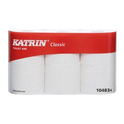 Katrin 104834 Classic Toilet 400 valkea WC-paperi