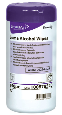 Suma Alcohol Wipes 150 kpl/prk desinfektiopyyhe 100878520